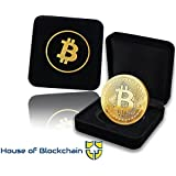 Bitcoin Coin in Luxury Showcase Edition Box: Limited Edition Physical Gold Coin with Crypto Coin Display Case | Cryptocurrenc