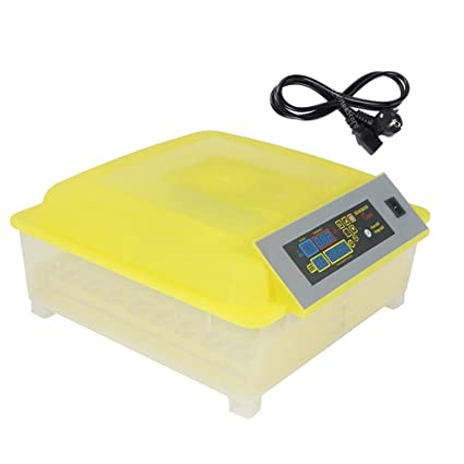 Segolike Plastic Fully Automatic Egg Incubator for Hatching 48 Chicken Eggs  (Yellow and Transparent)
