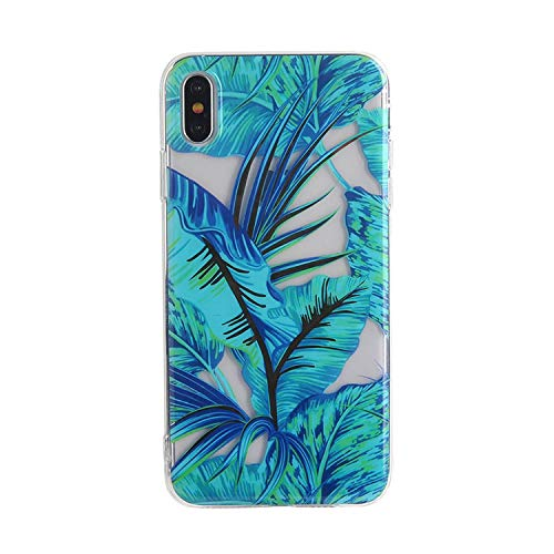 (New face Silicone Case for iPhone Xs Max 8 8Plus 6 6S 7 Plus Case Soft TPU Cover Flower Leaves Silver line for iPhone 7Plus X XR,6,for iPhone 6 Plus)
