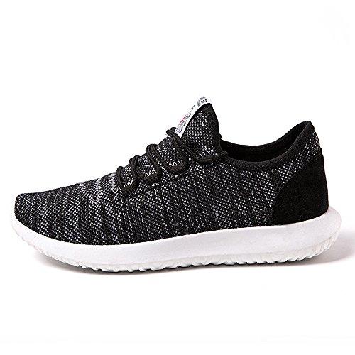 casual CUSTOME negro Zapatillas Hombre ligero atlético Peso Zapatos tejer deportivas qAwRP4fAB