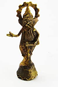 Novelika Ganesh Brass Idol | Brass Statue | Murti for Pooja Room | Idols Home Decor