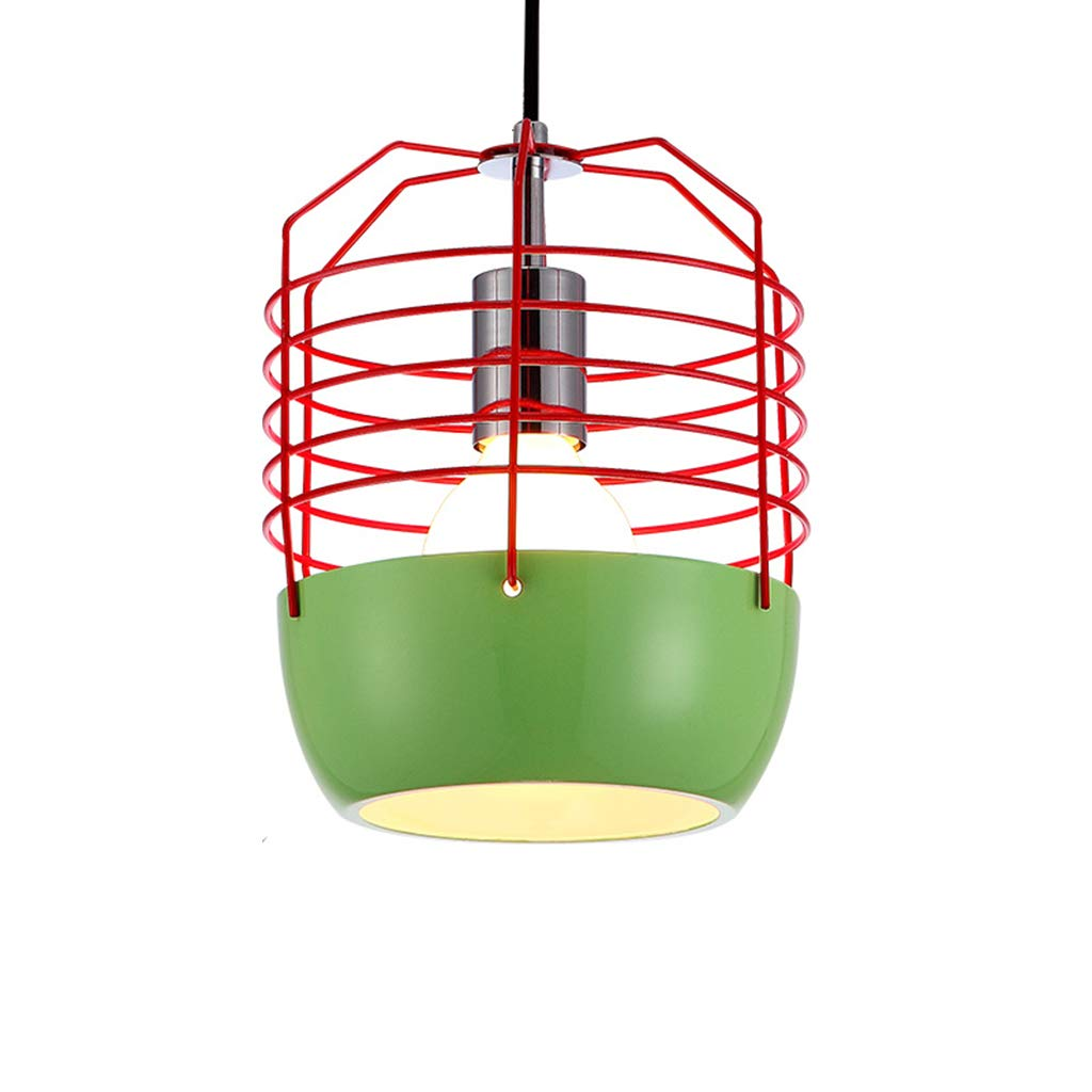 錬鉄のシャンデリア棒、台所/ポーチ Green 1/カフェ E27 E27 のための産業天井ランプのレトロな据え付け品* 1 (球根無し),Red B07P2XFKW9 Green Green, おとどけストア:cdc9f766 --- artmozg.com