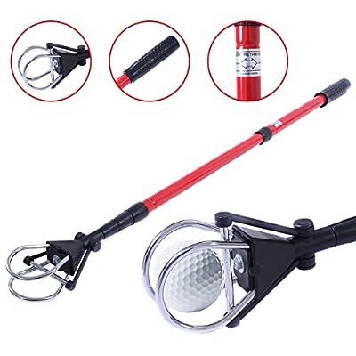 Retractable Golf Ball Retriever Scoop Pick Up Grabber Shaft Tool