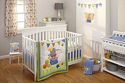 Disney Dumbo 3 Piece Crib Bedding Set.