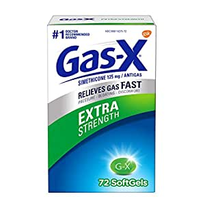 Gas-X Extra Strength Softgel for Fast Gas Relief, 72 count