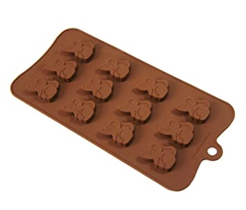 12 celdas de ratón de campo Ratón 7 G Chocolate Candy moldes de silicona molde para galletas de jabón: Amazon.es: Hogar