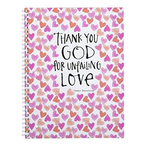 DaySpring Sadie Robertson's College Ruled Spiral Bound Notebook, Jar of Hearts
