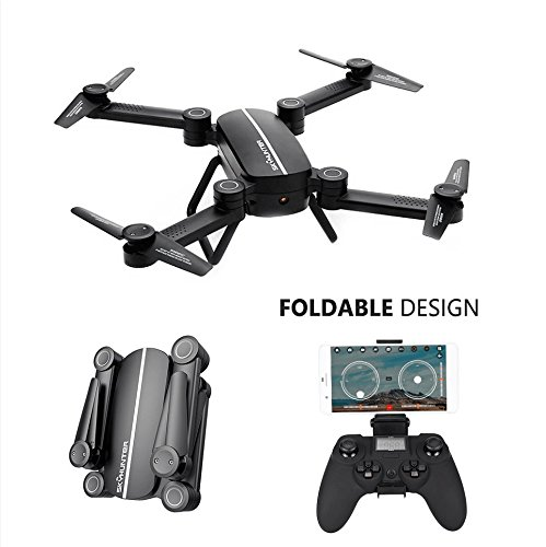 Voguego Skyhunter RC Quadcopter Drone with HD Camera, Air Pressure Altitude Hold & Rolls Headless Gravity Sensor Fold Helicopter