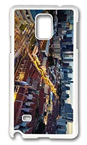 MOKSHOP Adorable chinatown singapore Hard Case Protective Shell Cell Phone Cover For Samsung Galaxy Note 4 - PC White