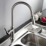 MOLI Pulldown Kitchen Sink Faucet Single Level Pull Out Kitchen Faucet (Brush Nickel)