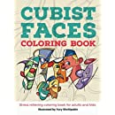 Cubist Faces Coloring Book