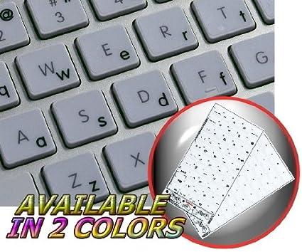 Apple Inglés (carcasa inferior) adhesivo para teclado color negro con letras fondo transparente para