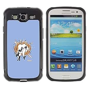 "Pulsar iFace Series Tpu silicona Carcasa Funda Case para Samsung Galaxy S3 III I9300 , Tiburón Gorila Animales Amistad Cita Arte"""