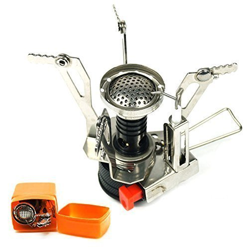 Zoeson Outdoors Mini Camping Stove Ultralight Collapsible Stove Backpacking with Piezo Ignition