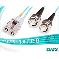 OM3 LC ST Duplex Fiber Patch Cable 10G Multimode 50/125 - 4 Meter