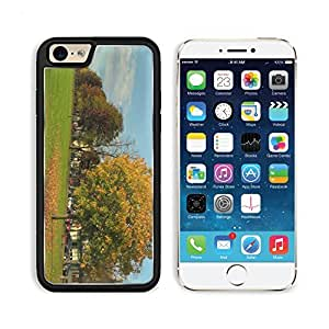 A Tree With Falling Leaves In Autumn 3DCom iPhone 6 Cover Premium Aluminium Design TPU Case Open Ports Customized Made to Order wangjiang maoyi