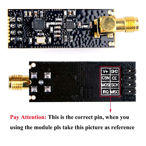 2Pcs NRF24L01+PA+LNA 2.4G 1100m Wireless Transceiver RF Communication Module with Antenna for Arduino