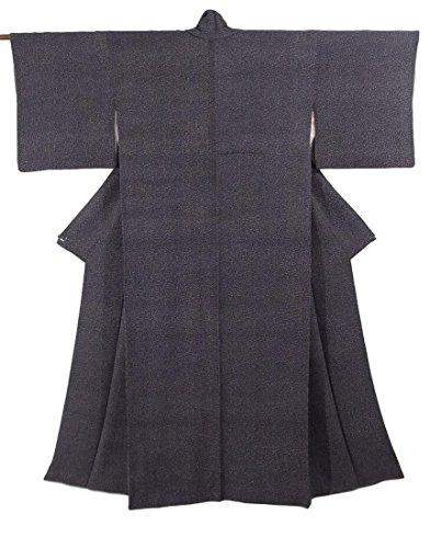 大洪水療法手配するリサイクル 着物 小紋 正絹 袷 細かな模様 裄63.5cm 身丈150cm