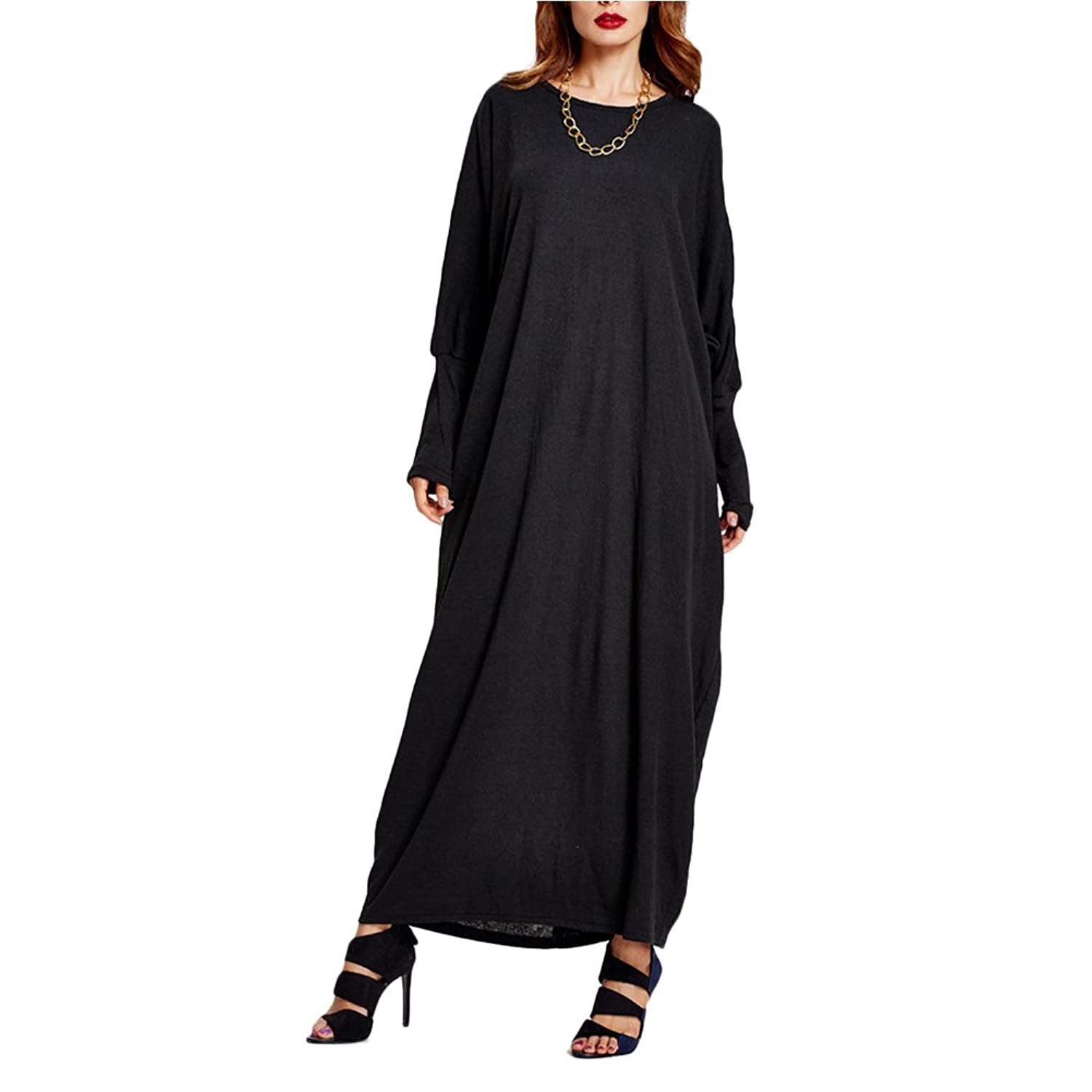 Zhuhaitf Fashion Oversized Dresses Kaftan Abaya Robes Maxi Length For Muslims Women at Amazon Womens Clothing store: