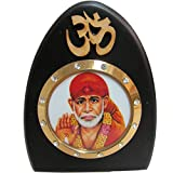Om Sai Baba Desk Dashboard Acrylic Frame Art Hindu Altar Yoga Meditation Accessory