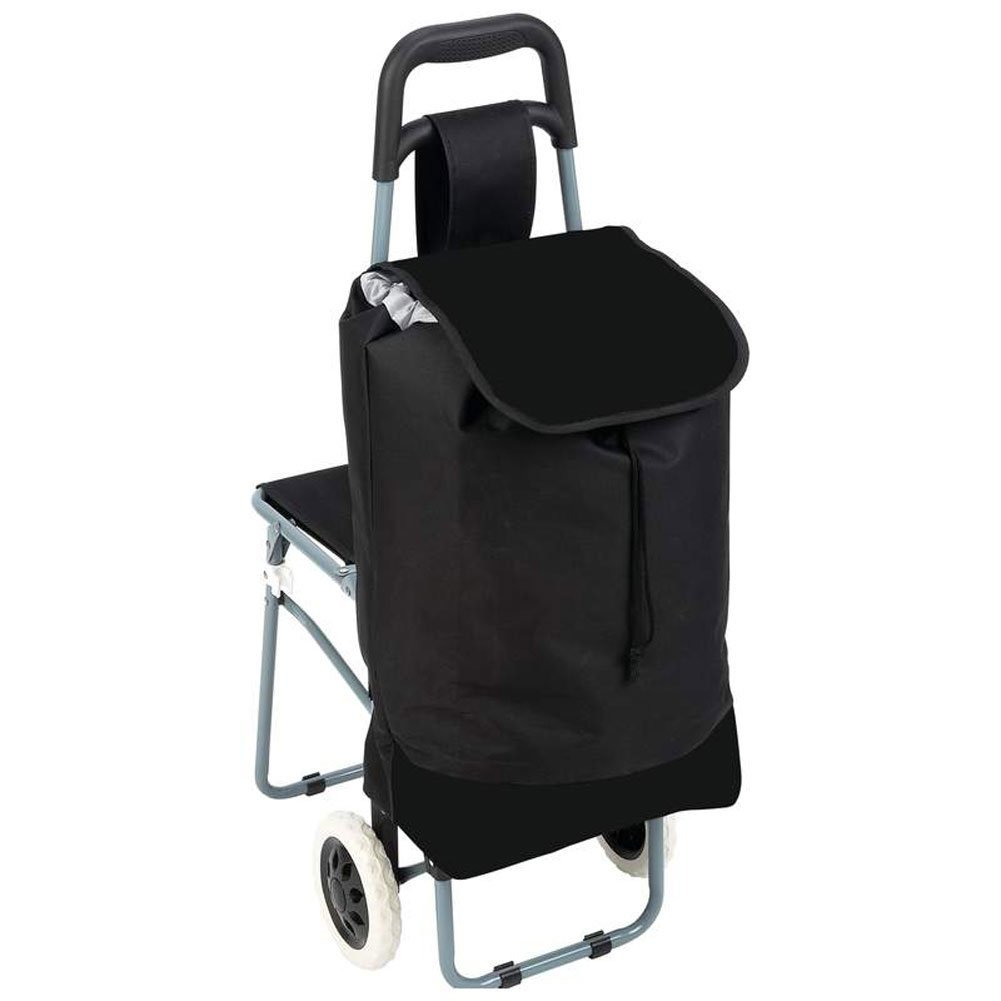 Peachy Maxam Trolley Bag With Folding Chair Black Pdpeps Interior Chair Design Pdpepsorg