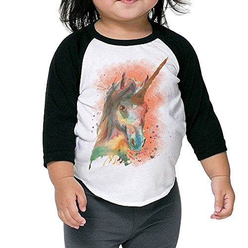 Golden Tiger Uniform (Watercolor Art Stock Unisex Kids 3/4 Sleeves Raglan T Shirts Child Youth Fit Sports Uniforms)