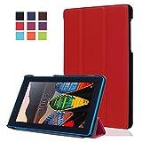 Carcasa Lenovo Tab3 7 Essential Cuero,Ultra Slim PU Cuero Funda de Piel para Lenovo Tab3 7 Essential Tab 3-710F Tablet de 7'' Pulgadas Smart Case Cover con Stand Función