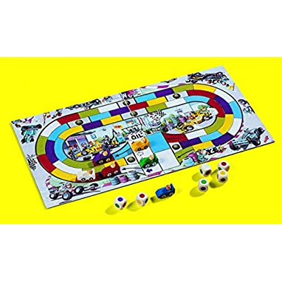 HABA Monza - A Car Racing Beginner's Board Game Encourages Thinking Skills - Ages 5 and Up (Made in Germany): Toys & Games