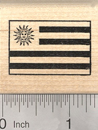 Flag of Uruguay Rubber Stamp, Flags of the world series