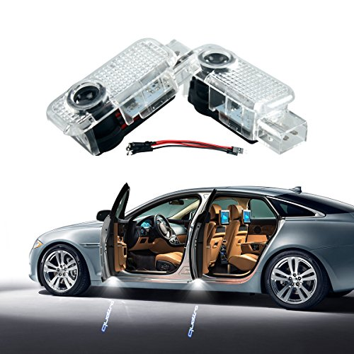 AUDI quattro Car Door LED Lighting Logo 2 Pcs LED Entry Ghost Shadow Laser Projector Welcome Lights Easy Installation for Audi A8 A7 A6 A5 A4 A3 A2 A1 R8 (Audi A4 Projector)