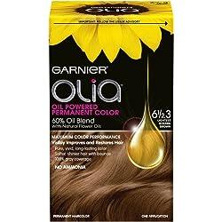 Garnier Olia Oil Powered Permanent Hair Color, 6 1/2.3 Lightest Golden Brown