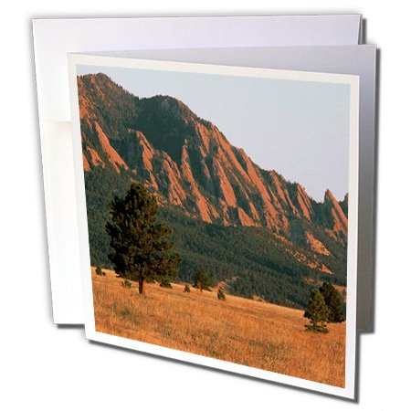 3dRose Black Ridge Canyons Wilderness Flatirons in Summer - Greeting Cards, 6 x 6 inches, set of 12 (gc_26254_2)