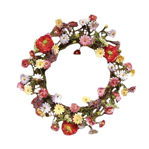 CWI Gifts Mixed Daisy Wreath, 18-Inch by CWI Gifts
