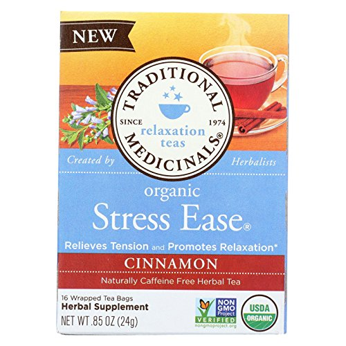 - Traditional Medicinals Tea Cinnamon Stress Ease Organic, 16 ct