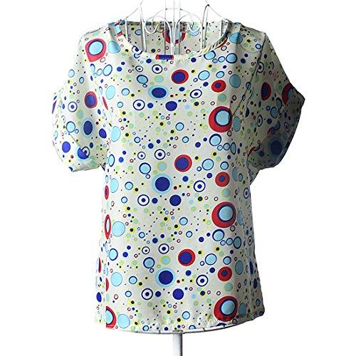 Aisuper - Camisas - Manga corta - para mujer Azul Burbuja