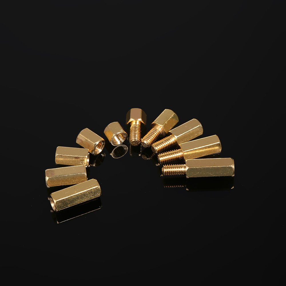 Festnight 240PCS M2 M3 Tornillos Separadores Roscados Male Female Brass Standoff Spacer PCB Board Tornillos Hexagonales Tuercas Surtido Kit Hardware