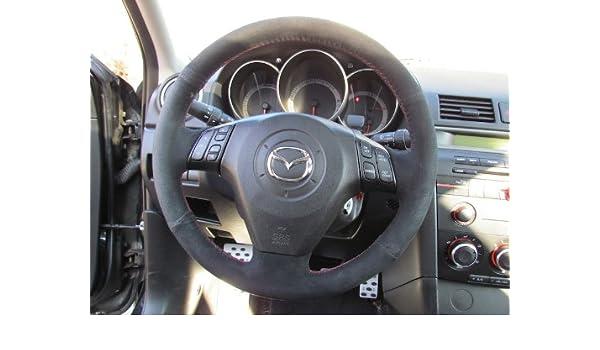 Amazon.com: Mazda 3 2004-09 cubierta del volante de RedlineGoods: Automotive