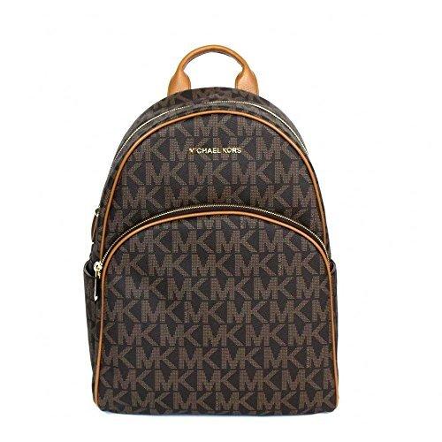 Michael Kors Abbey Jet Set Large Leather Backpack (Leather Nylon Luggage Set)