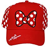 Disney Minnie Mouse Polka Dot Bow Womens' Baseball Hat