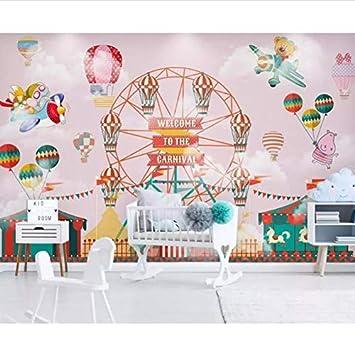 Wandbild Tapete Cartoon Heißluftballon Zirkus Hintergrund ...