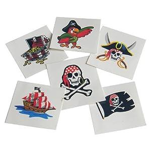 - 51BUapc5EjL - U.S. Toy Pirates Childrens Temporary Tattoos