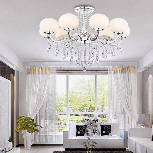 Lightinthebox European MINI Style Elegant Luxury 9 Light Crystal Chandelier, Modern Ceiling Light Fixture for Dining Room,Bedro om, Living Room