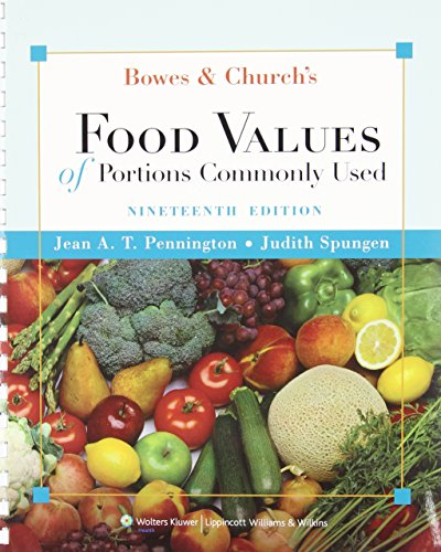 Bowes and Church's Food Values of Portions Commonly Used (Bowes & Church's Food Values of Portions Commonly Used) by Brand: Lippincott Williams n Wilkins 2009-08-26