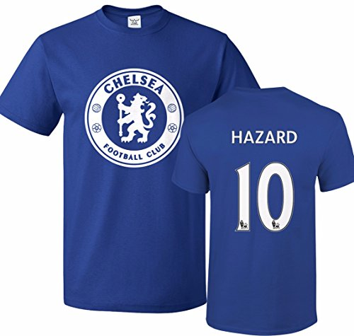 Tcamp Chelsea Shirt Eden Hazard #10 Jersey Men T-shirt (Chelsea Soccer Shirt)