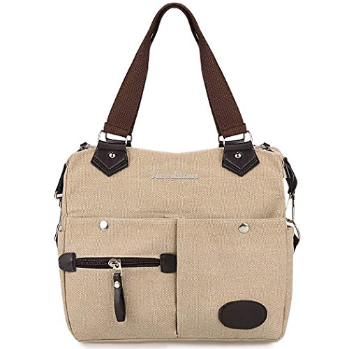 Large Shoulder Bag Satchel Tote Women Canvas Handbag Purse Messenger Crossbody Briefcase ,Classic design