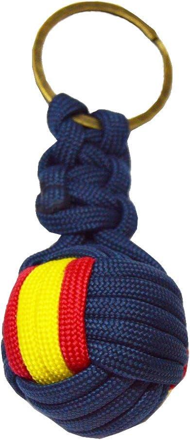 Tiendas LGP - Llavero de Bola Azul, Bandera de ESPAÑA, Nylon: Amazon.es: Equipaje