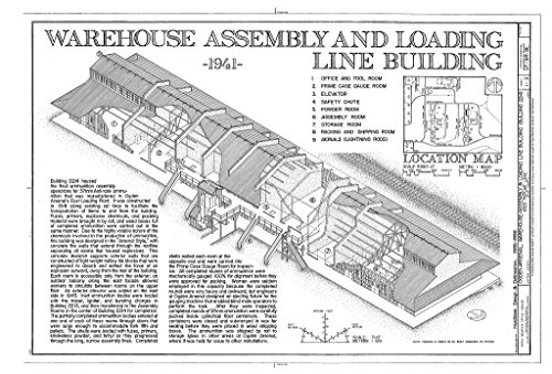 Historic Pictoric Blueprint Diagram HAER Utah,6-Lay.V,1BL- (Sheet 1 of 3) - Ogden Arsenal, Warehouse-Assembly & Loading Line Building, 6325 Poplar Lane, Layton, Davis County, UT 12in x 08in