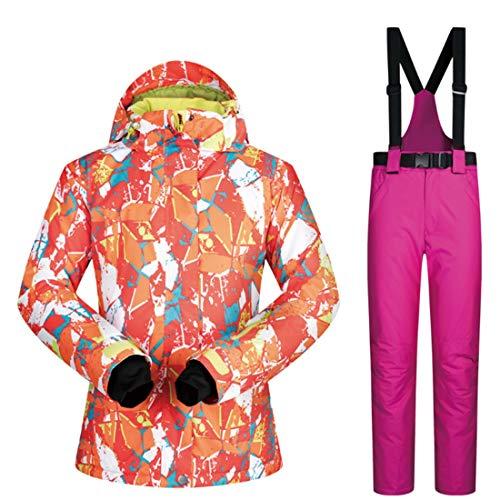 Nieve De Capa Y Conjunto Mujer Esquí Para 01 Pantalones Nalkusxi La Invierno Chaqueta Debajo Av45wvq