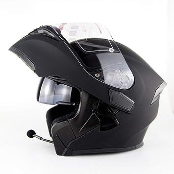 NBZH Modular Motocicleta Casco Moto Bluetooth Auriculares Estéreo ...