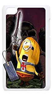Lovely Minions cases for iPod touch4,iPod touch4 phone case,Customize case for iPod touch4 By PDDSN.